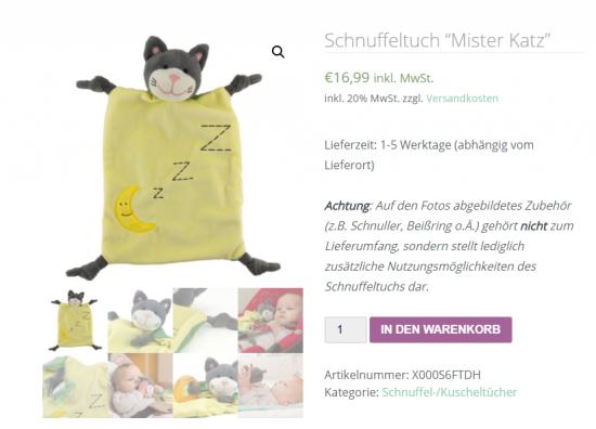 Vorschau auf den Online-Shop von Mister Katz